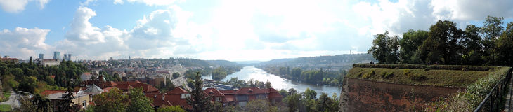Il fiume della Moldava a Praga Fotografia Stock