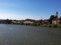 Il fiume di Adige a Verona, Italia Fotografia Stock Libera da Diritti