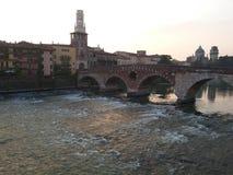 Il fiume di Adige a Verona, Italia Immagine Stock Libera da Diritti
