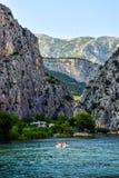Il fiume di Cetina fotografia stock libera da diritti
