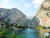 Il fiume di Cetina immagini stock