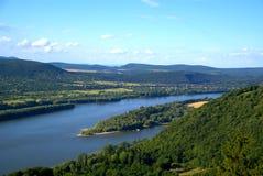 Il fiume di Danubio Fotografie Stock Libere da Diritti