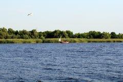 Il fiume di Dnieper Fotografia Stock