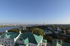 Il fiume di Dnieper e Kiev-Pechersk Lavra, Kiev, Ucraina Immagine Stock Libera da Diritti