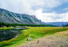 Il fiume di Firehole nel Wyoming Fotografie Stock