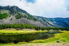 Il fiume di Firehole nel Wyoming Fotografia Stock Libera da Diritti