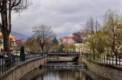Il fiume di Florina, Grecia Fotografia Stock