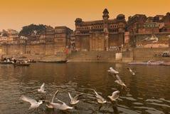 Il fiume di Ganges. L'India Fotografia Stock