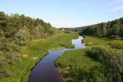 Il fiume di grande Salym Immagini Stock