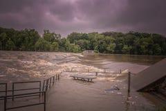 Il fiume di Maumee sta aumentando Fotografia Stock