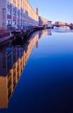 Il fiume di Milwaukee Fotografie Stock