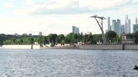 Il fiume di Mosca stock footage