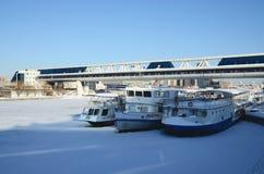 Il fiume di Mosca immagini stock libere da diritti