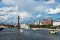 Il fiume di Mosca ed il parco di Museon delle arti Fotografia Stock Libera da Diritti
