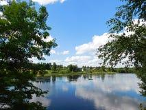 Il fiume di Oredezh Immagini Stock
