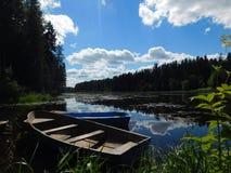 Il fiume di Oredezh Fotografie Stock