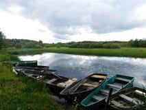 Il fiume di Oredezh Fotografia Stock Libera da Diritti