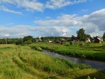 Il fiume di Oredezh Immagine Stock