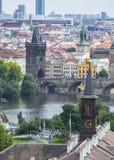 Il fiume di Praga Fotografia Stock
