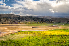 Il fiume di Provo nell'Utah, Stati Uniti immagine stock