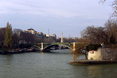 Il fiume di Sena Fotografie Stock Libere da Diritti