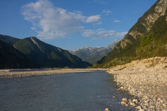 Il fiume di Tagliamento in Italia Fotografia Stock Libera da Diritti