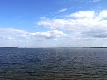 Il fiume di Volga a Saratov. Fotografia Stock Libera da Diritti