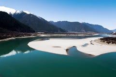 Il fiume di Yarlung Zangbo Immagine Stock