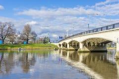 Il fiume di Yarra a Melbourne Fotografia Stock