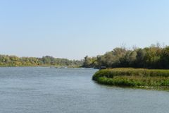 Il fiume Don Fotografie Stock