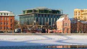 Il fiume e Segull di Mosca hanno coperto la piscina Fotografia Stock