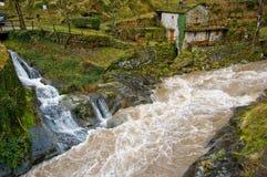 Il fiume ed il tributario Immagini Stock Libere da Diritti