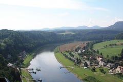 Il fiume Elbe Fotografia Stock Libera da Diritti