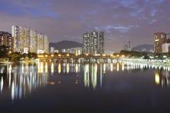 Il fiume Fiume Shing Mun, Hong Kong 2016 Fotografia Stock