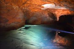 Il fiume frana il Nuovo Galles del Sud blu Austr delle montagne delle caverne di Jenolan Fotografia Stock Libera da Diritti