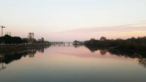 Il fiume francese Fotografia Stock