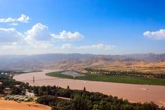 Il fiume giallo Immagine Stock Libera da Diritti