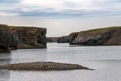 Il fiume Ilyinka su Novaya Zemlya Immagini Stock Libere da Diritti