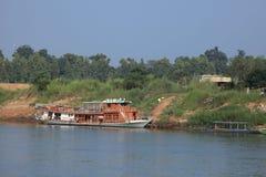 Il fiume Irrawaddy nel Myanmar fotografie stock