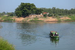 Il fiume Irrawaddy nel Myanmar immagini stock libere da diritti