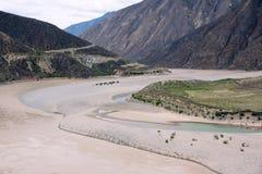 Il fiume Jinsha Immagini Stock Libere da Diritti