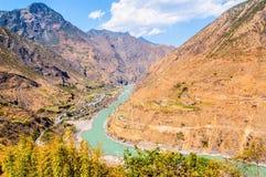 Il fiume Jinsha Immagini Stock