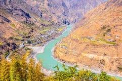 Il fiume Jinsha Fotografia Stock Libera da Diritti