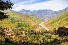 Il fiume Jinsha Fotografie Stock