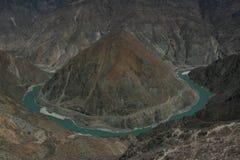 Il fiume Jinsha (fiume di Chin-sha) Immagini Stock Libere da Diritti
