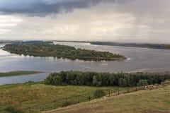 Il fiume Kama Fotografie Stock Libere da Diritti