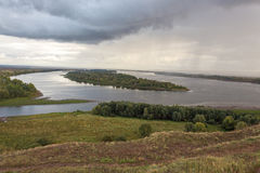 Il fiume Kama Fotografia Stock Libera da Diritti