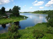 Il fiume Ladozhka Immagini Stock Libere da Diritti