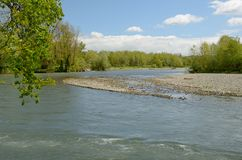 Il fiume liberamente serpeggiante ha dato il de Pau Fotografia Stock Libera da Diritti