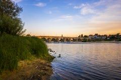 Il fiume Loira, Francia Fotografia Stock